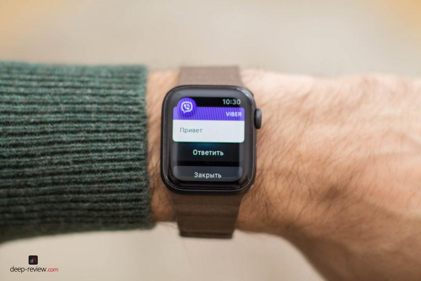 Apple Watch 4 Уведомление
