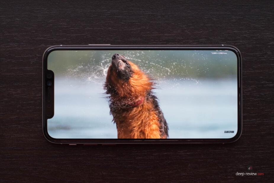 Видео на iPhone с челкой