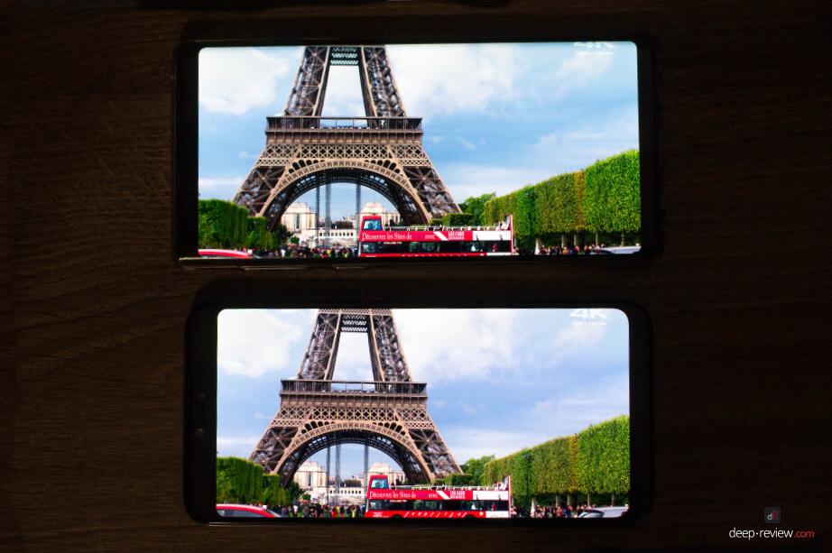 Сравнение экрана Mi 8 Pro и Note 9