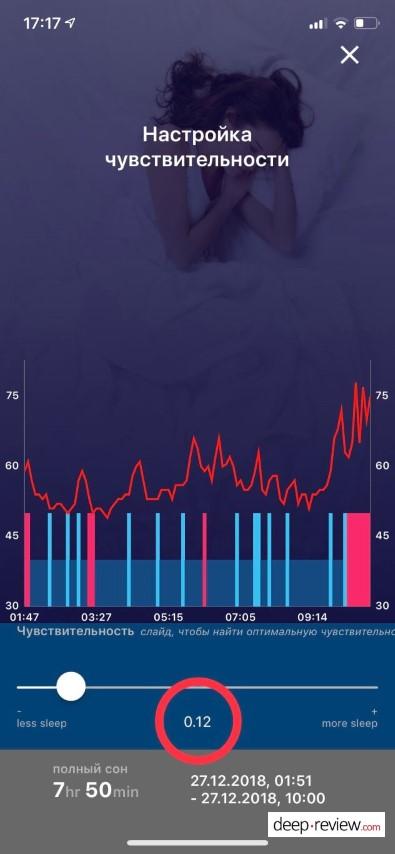 SleepMatic Чувствительность сна