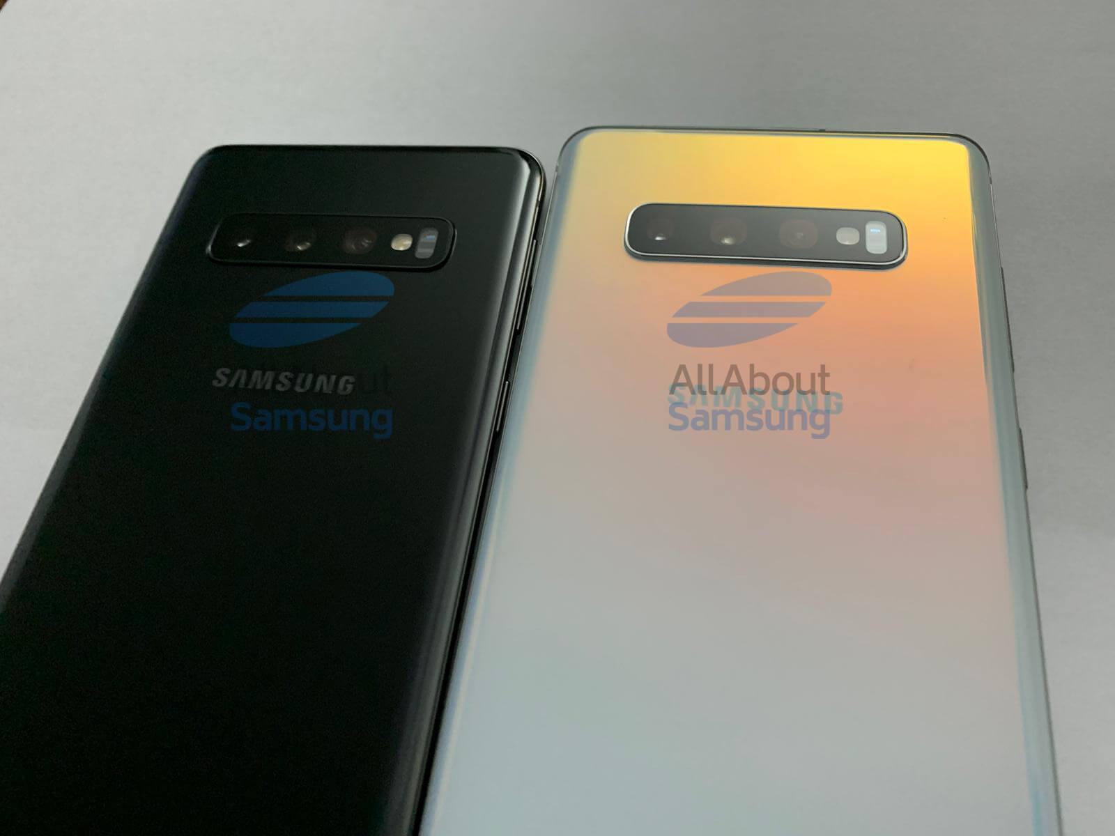 Galaxy S10 и S10+ сзади