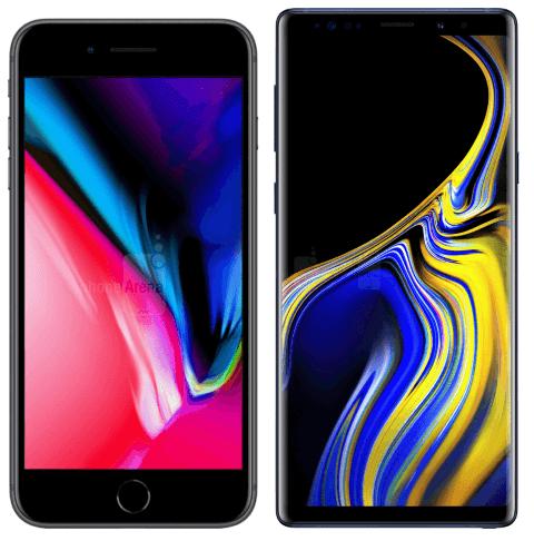 iPhone 8 против Note 9