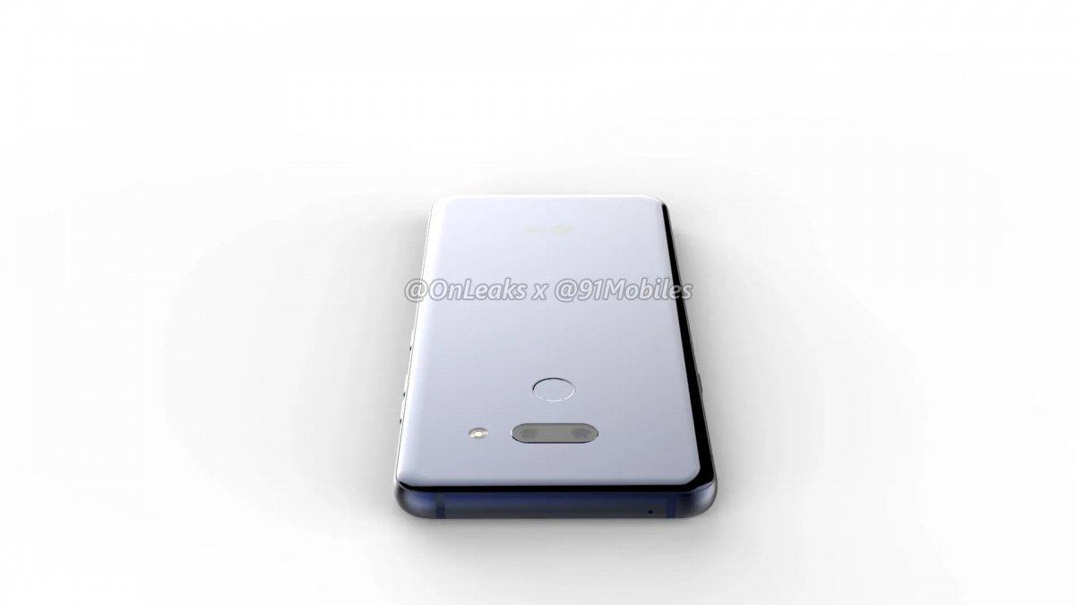 LG G8 ThinQ рендер сзади