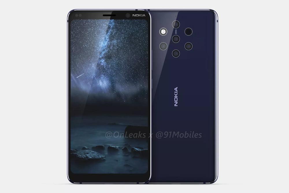 Nokia 9 PureView спереди и сзади