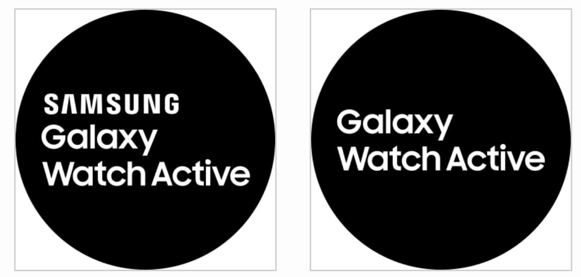 Логотип Galaxy Watch Actvie при загрузке