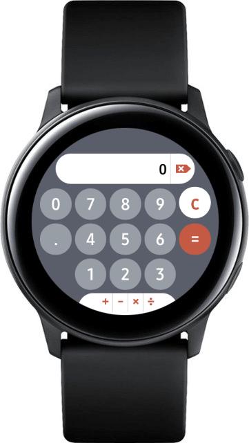 Приложение калькулятор для часов Galaxy Watch