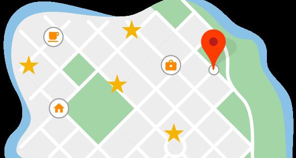 История местоположений в Google Картах