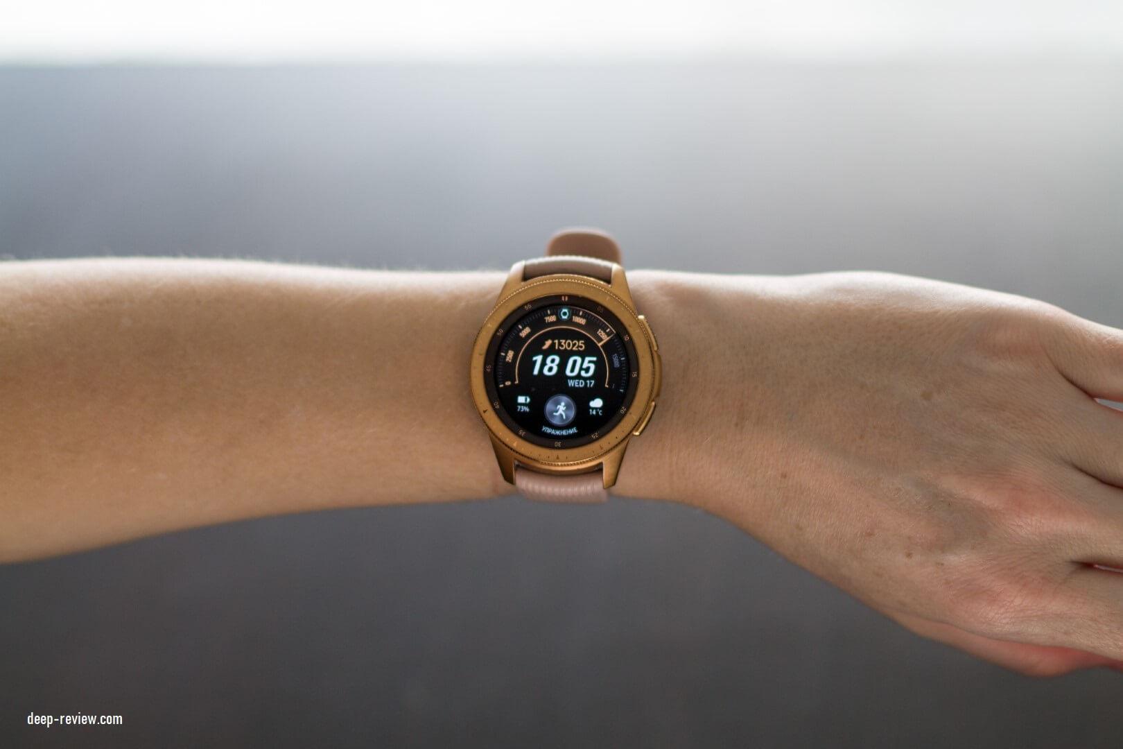 Samsung Galaxy Watch на женском запястье