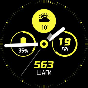 Циферблат Galaxy Watch Active взгляд в будущее