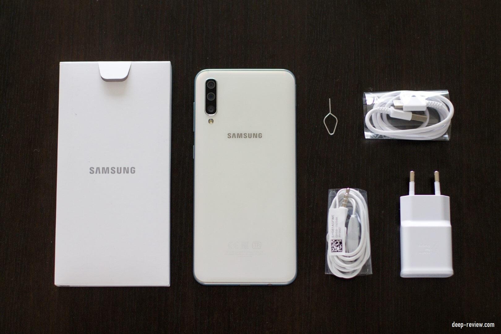 Комплект поставки или что в коробке с Samsung Galaxy A50?