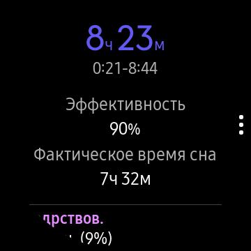 Эффективность сна на Galaxy Watch Active
