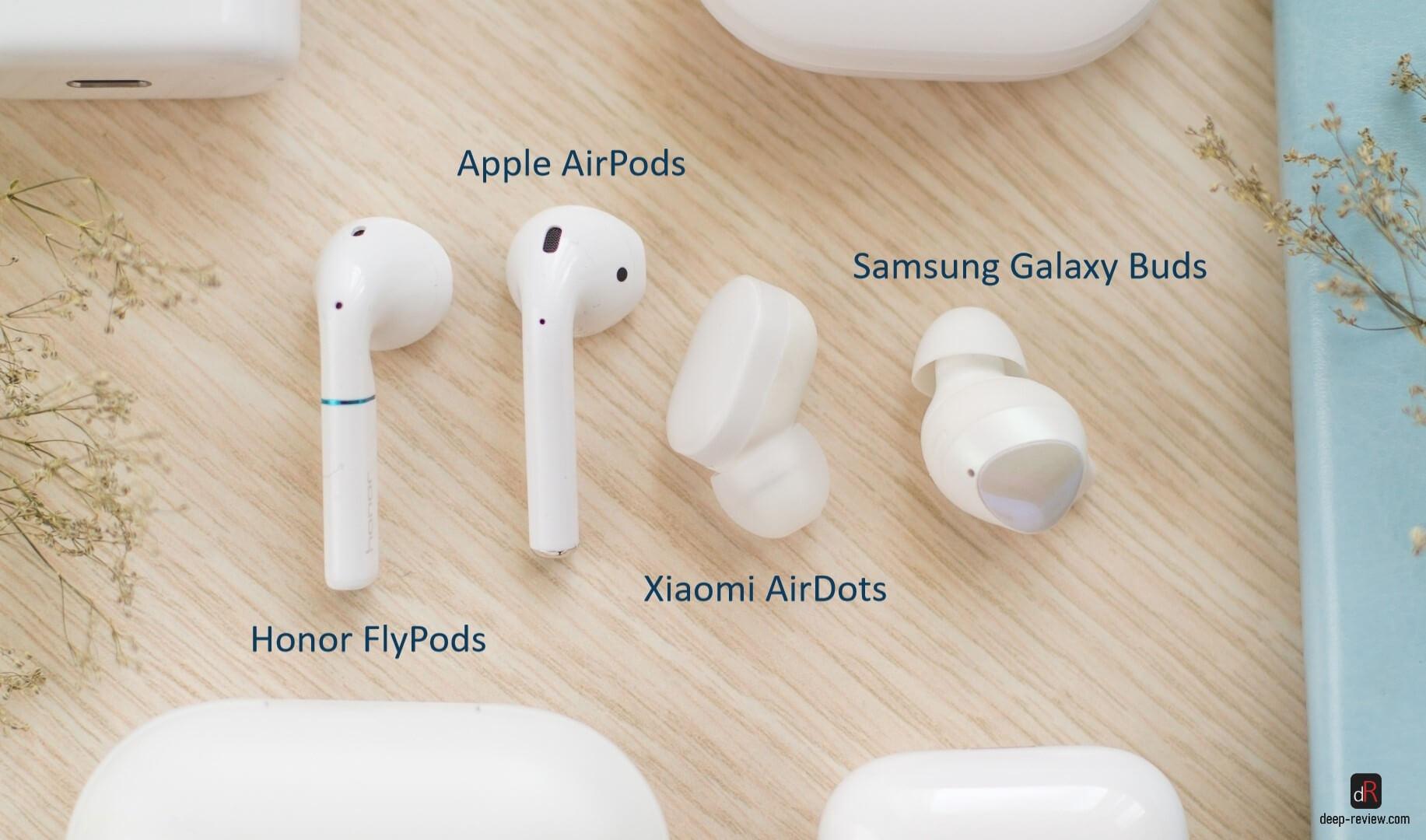 Типы беспроводных наушников от Apple, Xiaomi, Samsung и Huawei