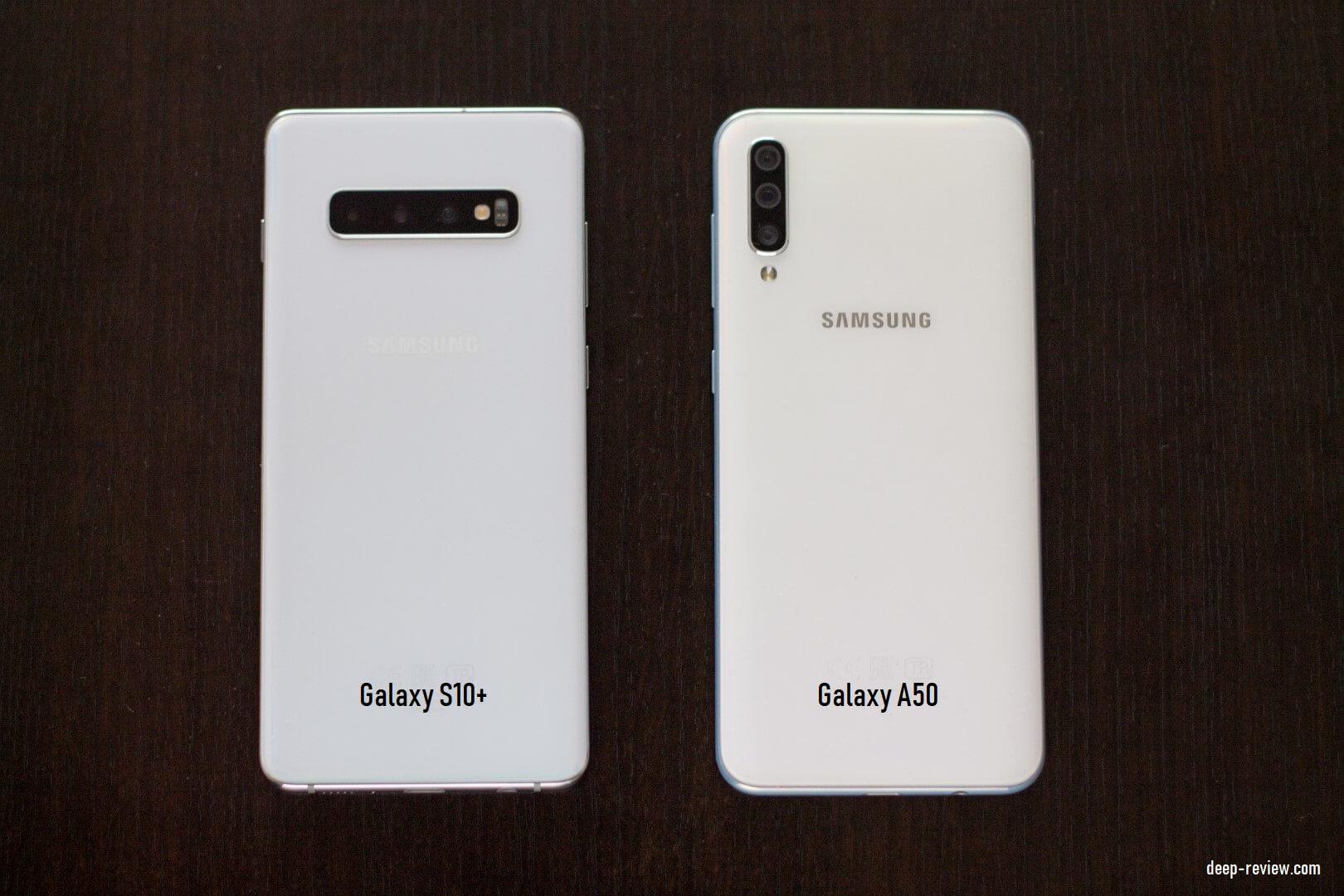 Как отличается белый цвет корпуса Galaxy S10 и Galaxy A50