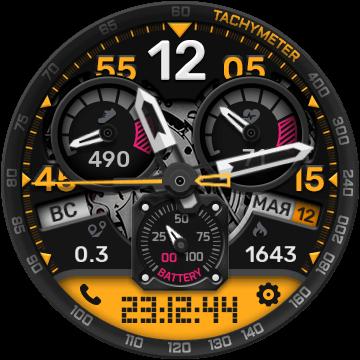 Цифро-аналоговый циферблат для Gear S3, S2 и Sport