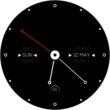 Аккуратный циферблат для Galaxy S3 Sport Watch черный