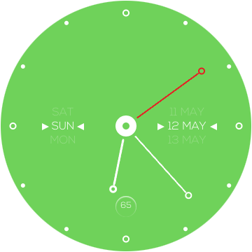 Аккуратный циферблат для Galaxy S3 Sport Watch зеленый