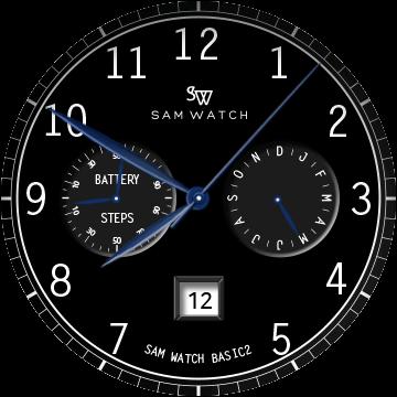 Черный элегантный циферблат для Samsung Galaxy Watch