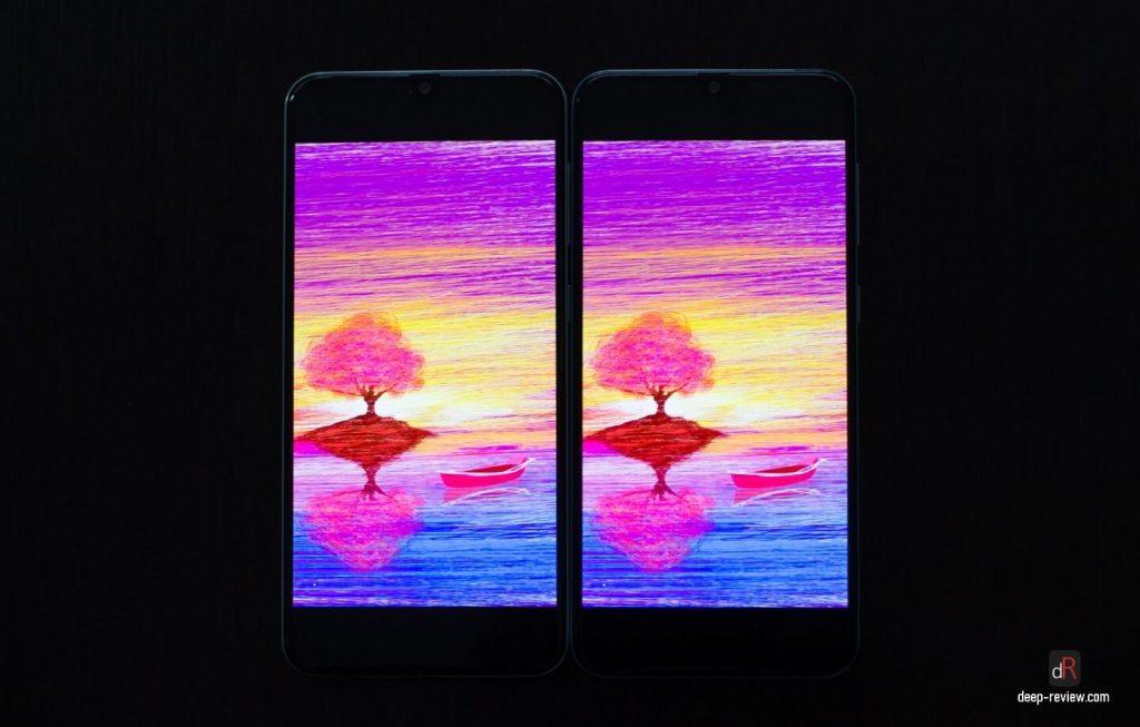 Сравнение экранов Galaxy A50 и A30