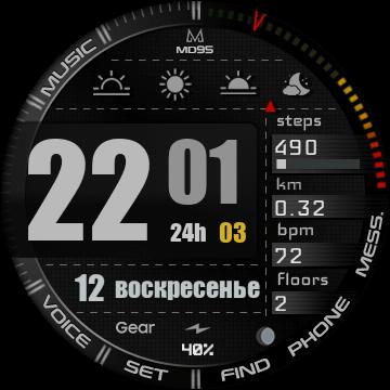 Лучшие цифровые watchface для Samsung