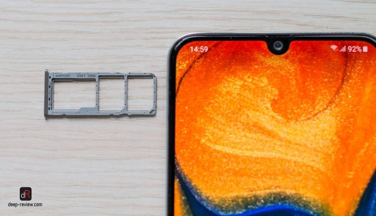 Лоток для SIM-карты в Galaxy A30
