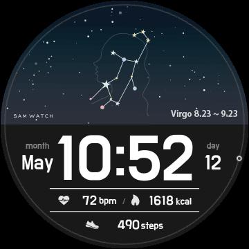 Циферблат Звездное небо для Samsung Galaxy Watch