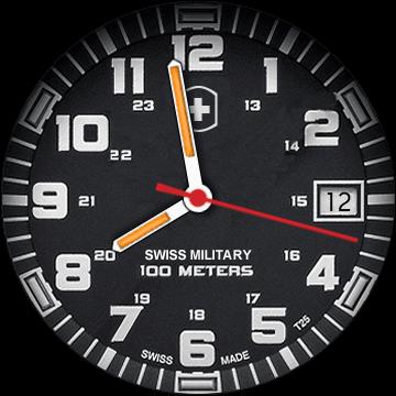 Армейский циферблат Swiss Military для Galaxy Watch Active