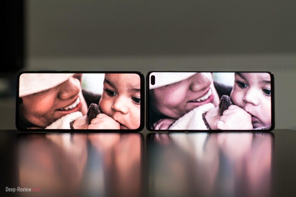Сравнение экранов Xiaomi Mi 9 и Galaxy S10+