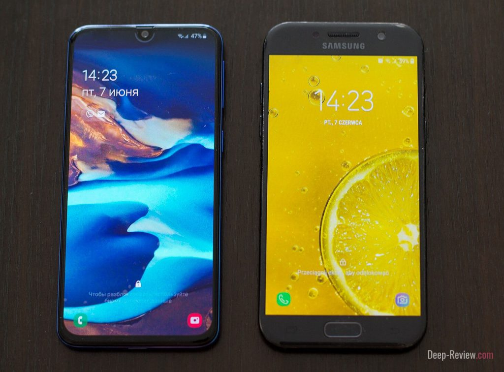 сравнение samsung galaxy a40 и galaxy a5 (2017)