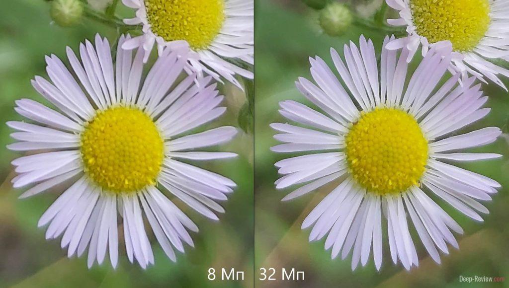 сравнение 8 Мп и 32 Мп на камере Galaxy A70