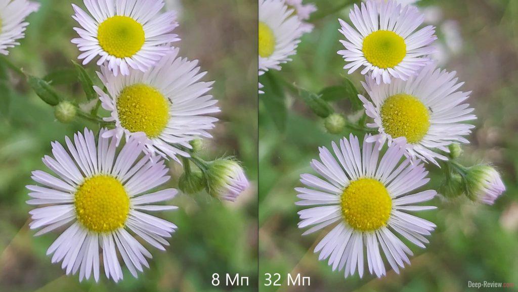сравнение 8 Мп и 32 Мп (уменьшенных до 8) на камере Galaxy A70