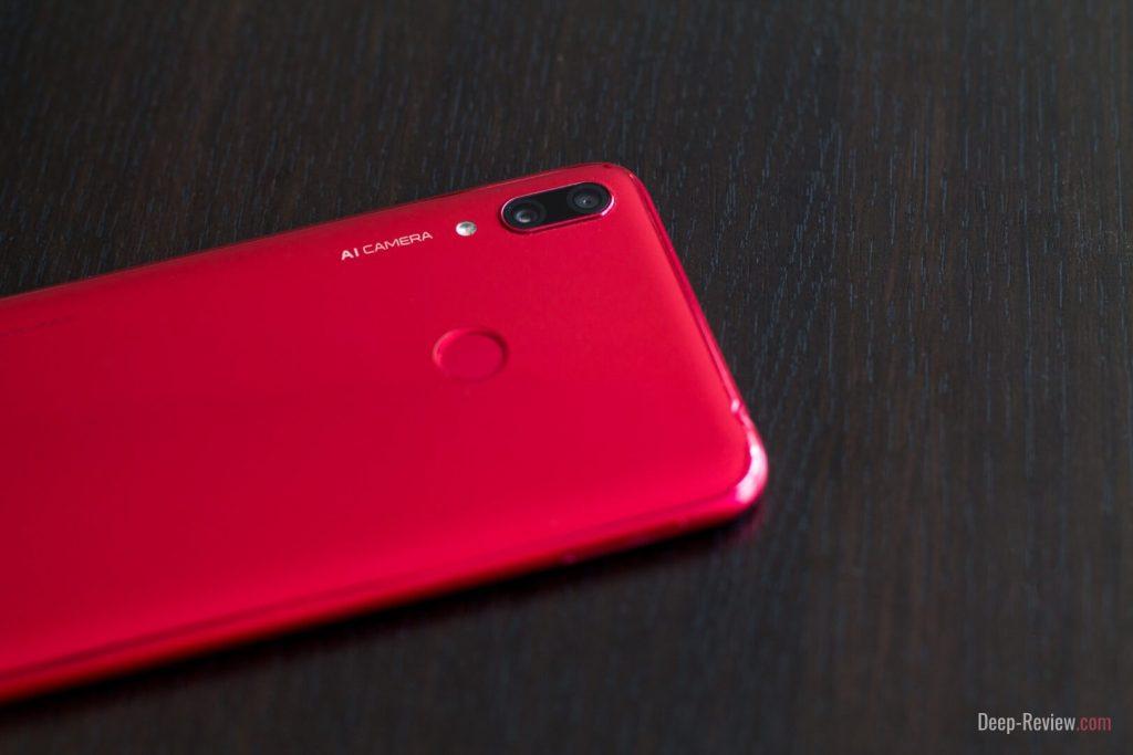 модуль камеры и сканер отпечатка на задней крышке Huawei Y7 2019