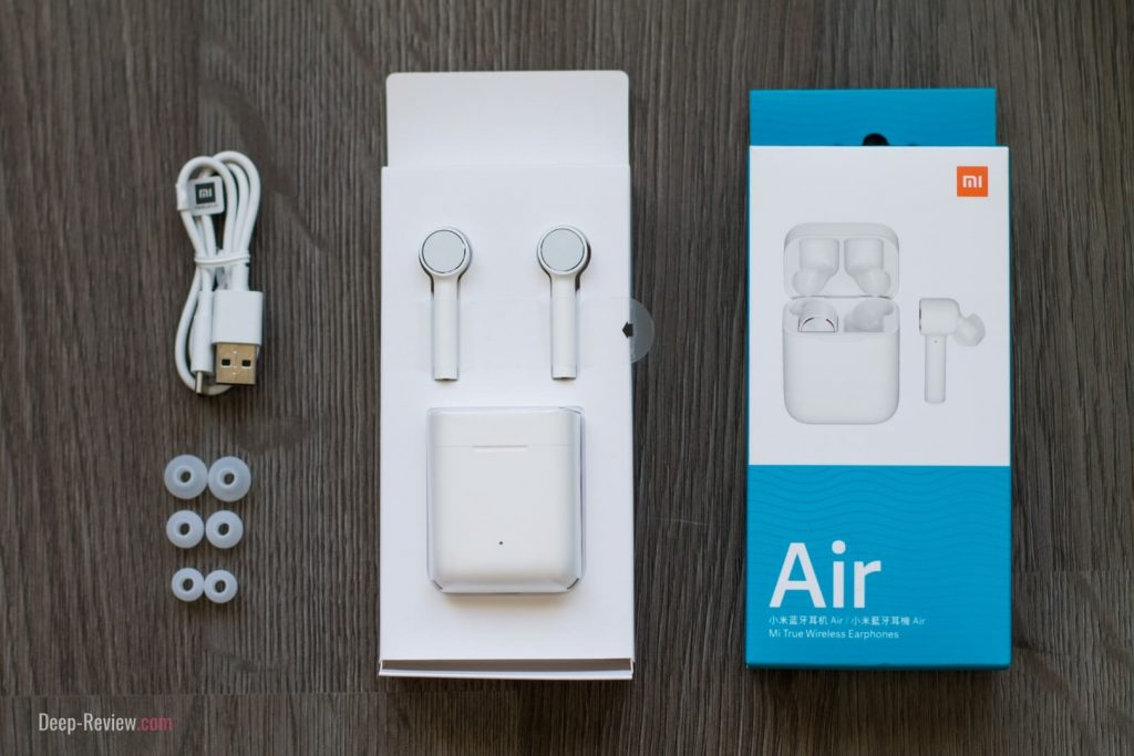комплектация наушников xiaomi air mi true wireless earphones