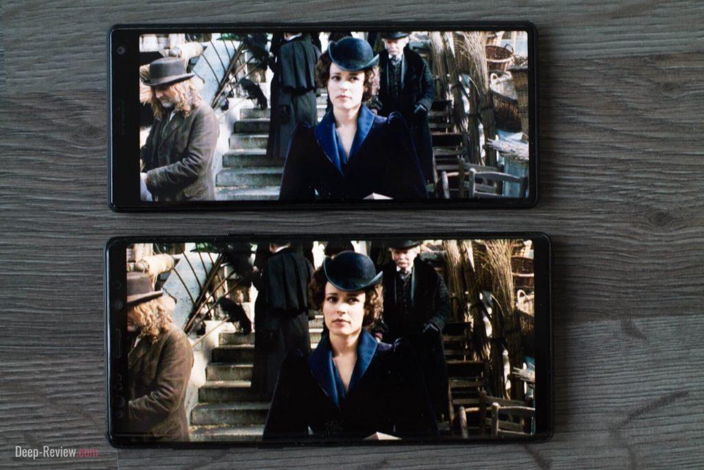 Сравнение просмотра фильма на экранах с разным соотношением сторон