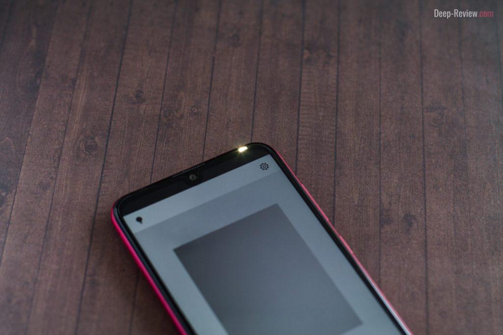 Вспышка селфи-камеры на Huawei Y7