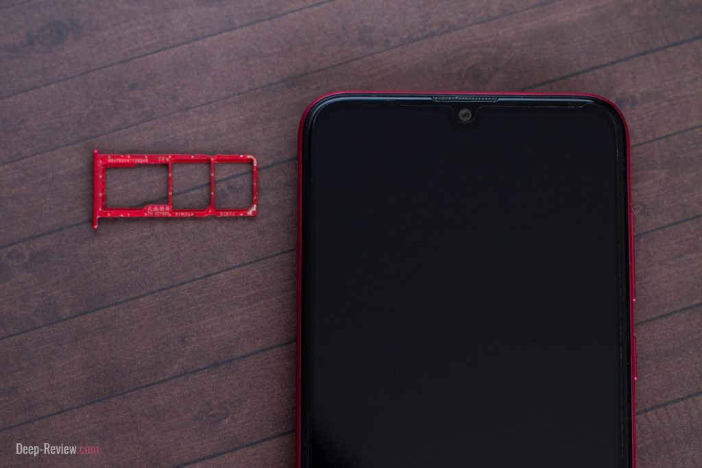 как выглядит лоток для SIM-карт на Huawei Y7