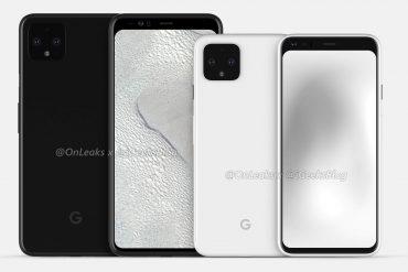 Google Pixel 4 на рендерах