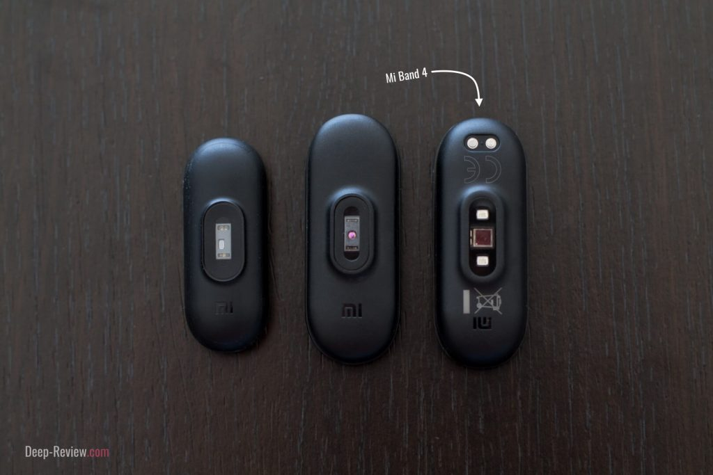 сравнение датчиков пульса на Xiaomi Mi Band 4 и Mi Band 3, 2