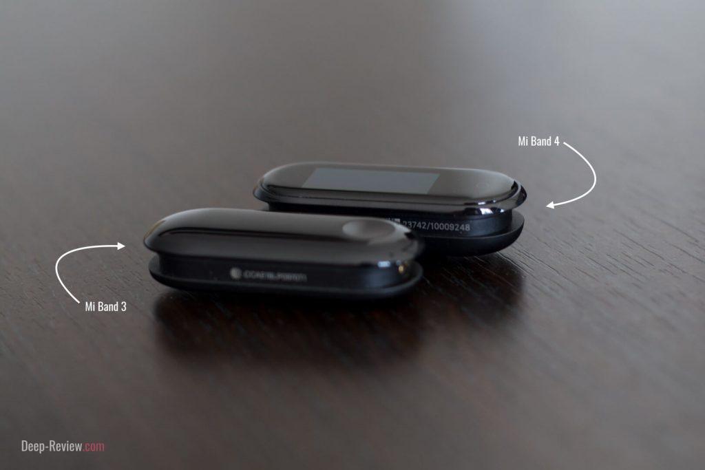 Сравнение дизайна браслетов Xiaomi Mi Band 3 и Mi Band 4