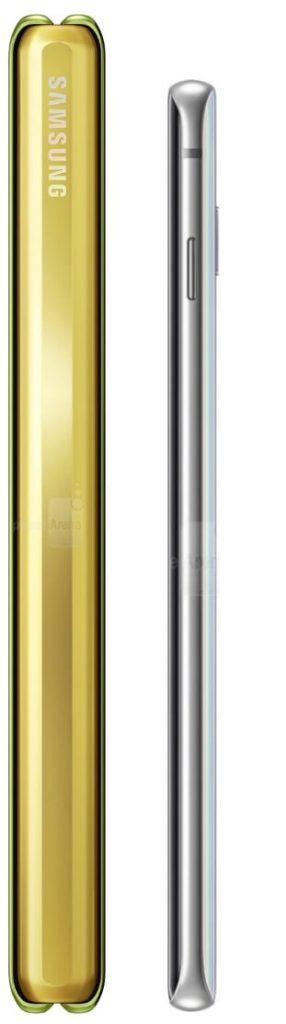 сравнение размеров Samsung Galaxy Fold и Galaxy S10