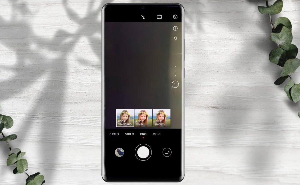 изменение дизайна приложения Камера в EMUI 10