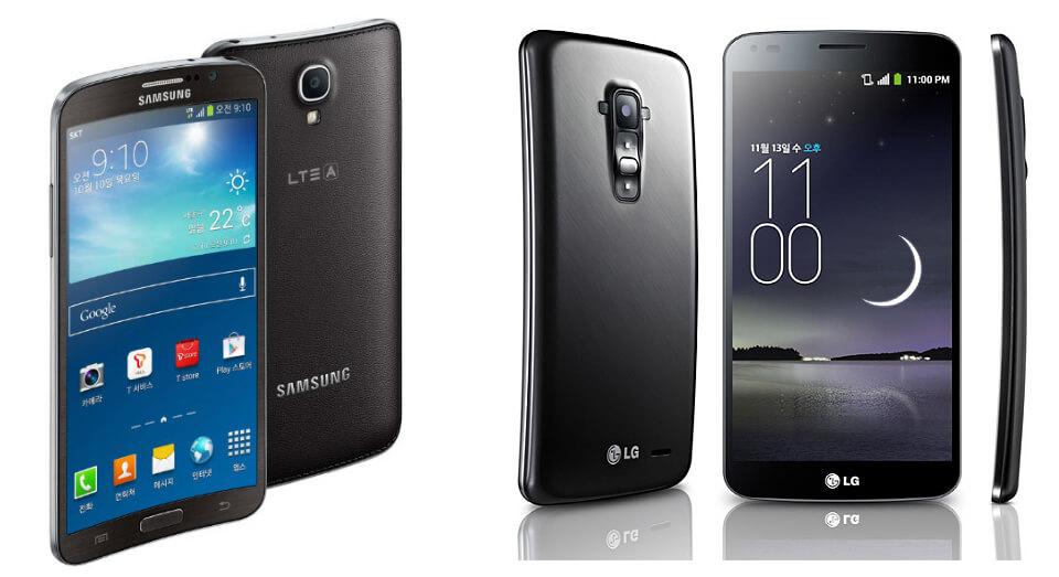 LG G Flex и Samsung Galaxy Round