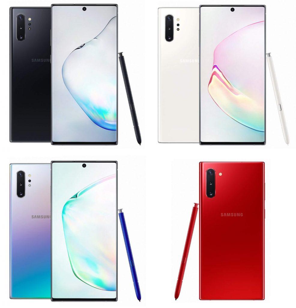Варианты цветов Galaxy Note 9