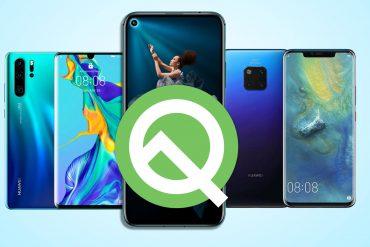 список смартфонов Huawei\Honor которые получат обновление до Andorid 10