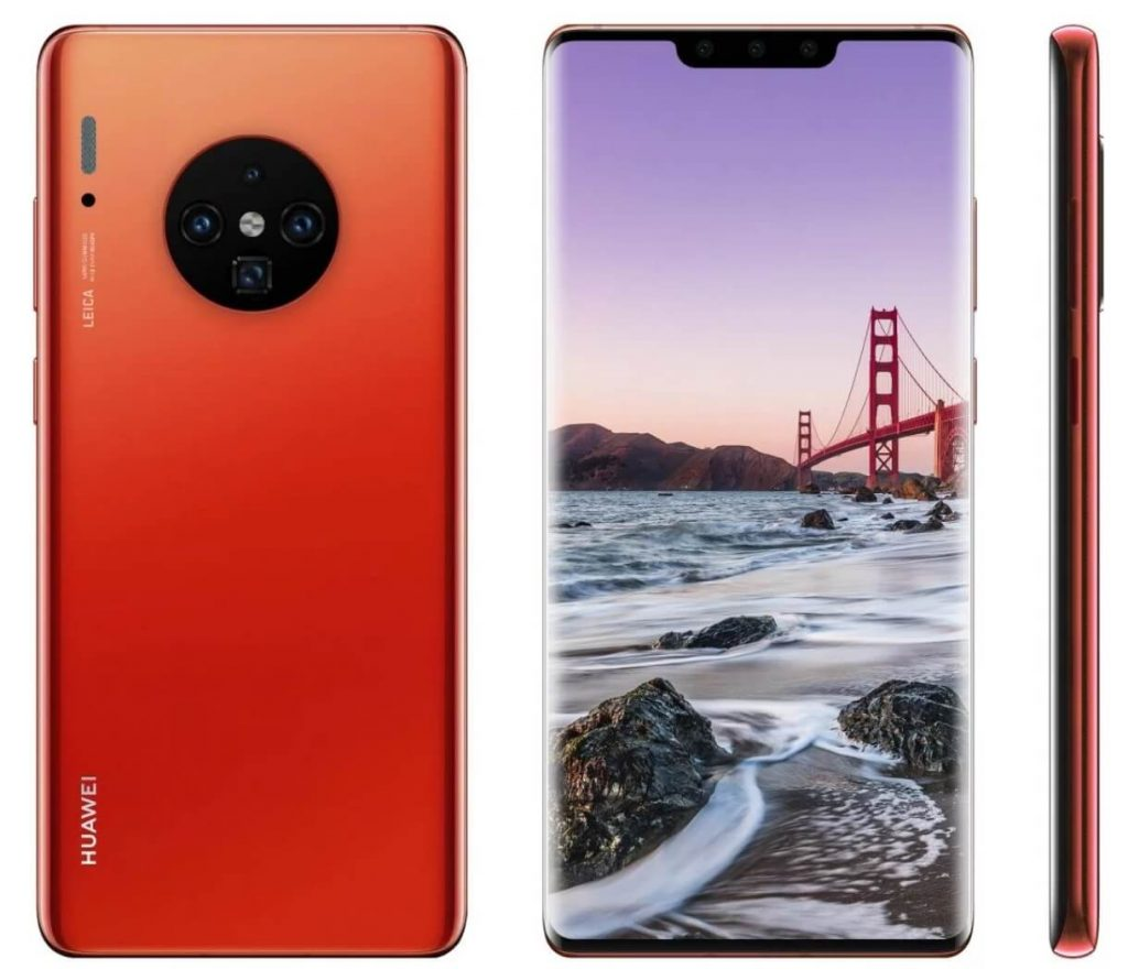 дизайн Huawei Mate 30 Pro