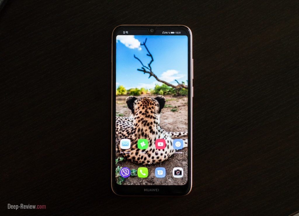 скрытие выреза на Huawei Y6 2019