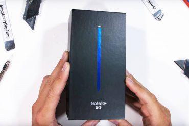 тест на прочность Samsung Galaxy Note 10