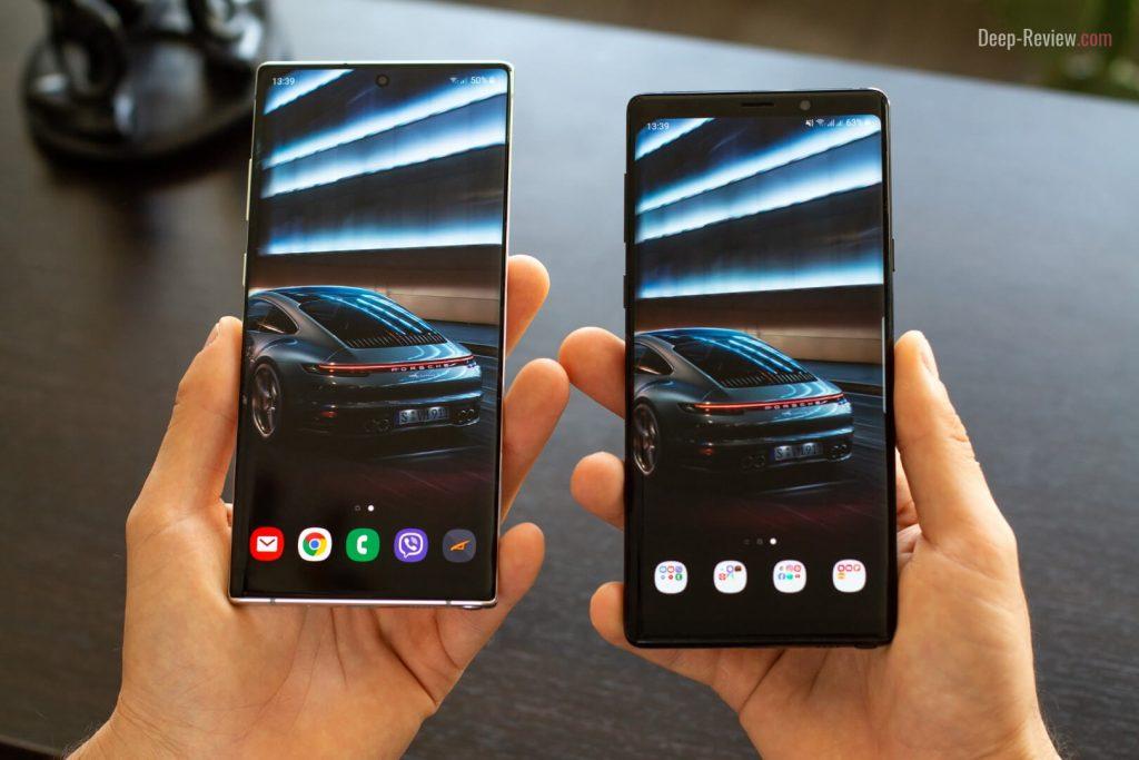 Сравнение дизайна Galaxy Note 9 и Galaxy Note 10+