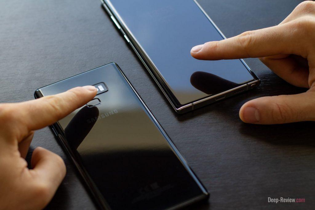 сканеры отпечатков пальцев на Galaxy Note10+ и Galaxy Note 9