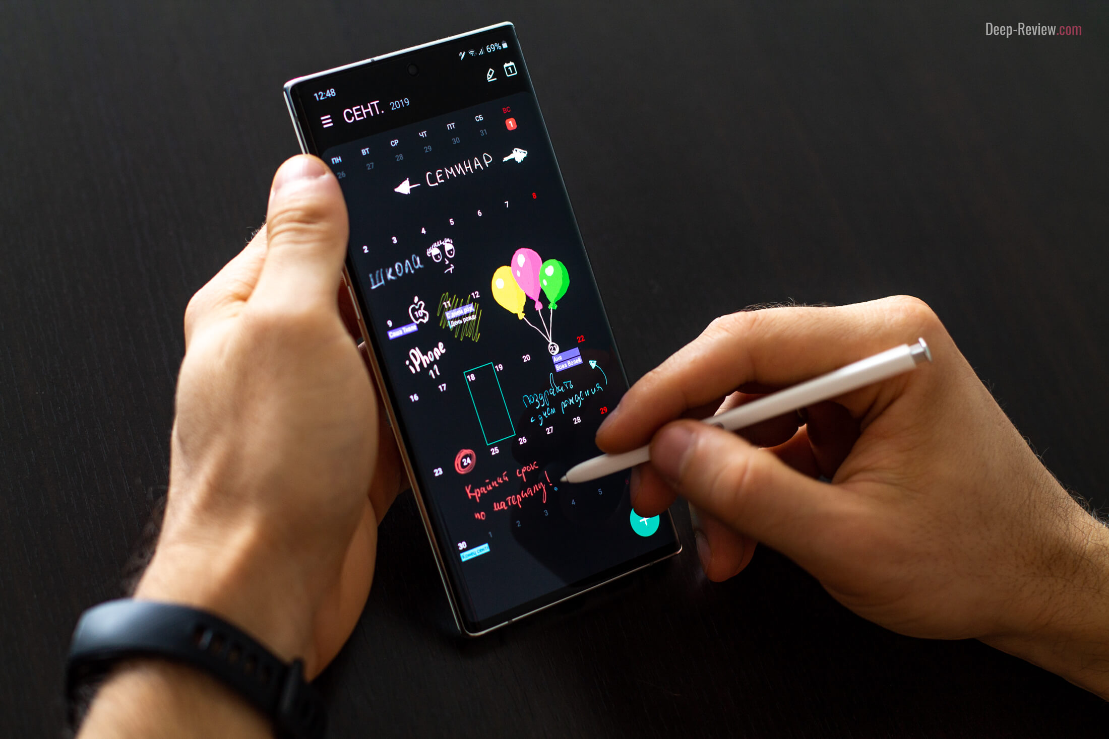 Новые функции и возможности пера S Pen на Galaxy Note 10