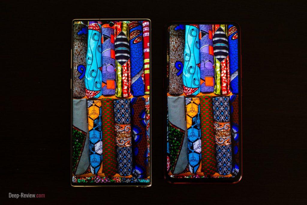 Сравнение качества экранов Vivo V15 Pro и Samsung Galaxy Note10+